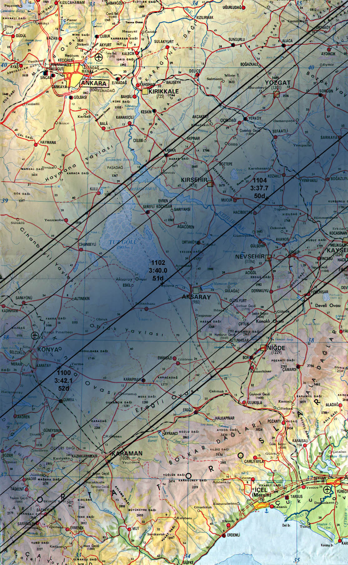 Maps of the Totality Path Total Solar